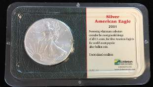 2001 $1 American Silver Eagle 1oz Littleton Coin