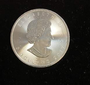 2017 $5 Canada Maple Leaf 1oz. Fine Silver BU