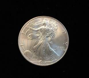 2001 $1 American Silver Eagle 1oz Fine Silver BU