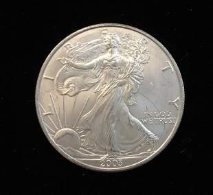 2003 $1 American Silver Eagle 1oz Fine Silver