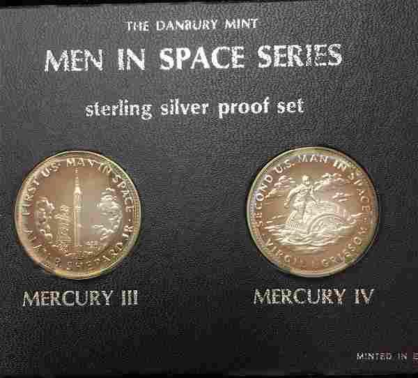 Danbury Mint Men In Space Series Sterling Silver Proof