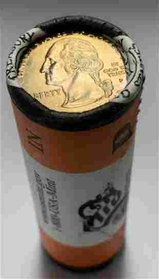 2002-P Indiana U.S. Mint Wrapped Roll of 40 State