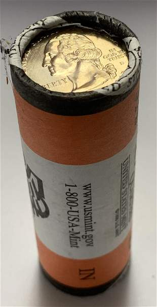 2002-D Indiana U.S. Mint Wrapped Roll of 40 State