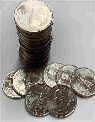 2000-D Maryland Roll of 40 State Washington Quarters