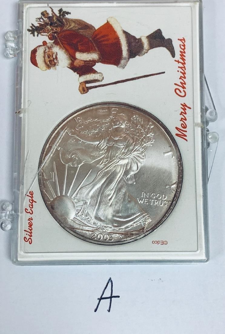 2003 $1 American Silver Eagle 1 oz .999 Fine Silver BU