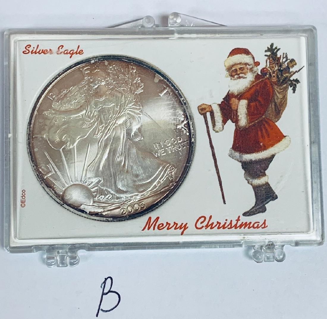 2003 $1 American Silver Eagle 1 oz .999 Fine Silver BU - 3