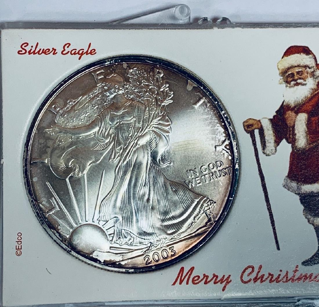 2003 $1 American Silver Eagle 1 oz .999 Fine Silver BU - 7