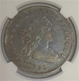 1795 $1 Draped Bust Centered Dollar Small Eagle Reverse