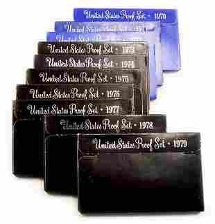 1970 - 1979 Proof Sets