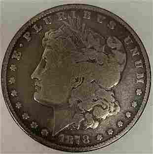 1878 P 8TF Morgan Silver Dollar Average Circulated $1