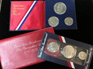 Lot of 2 1776-1976 U.S. Bicentennial Silver Sets Proof