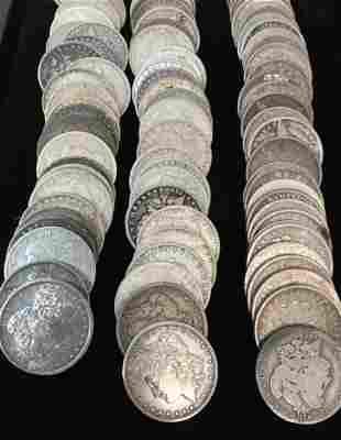100 Mixed Morgan Dollars Pre 1921