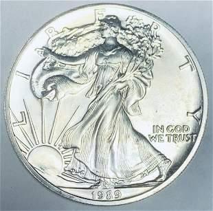 1989 $1 American Silver Eagle BU