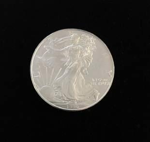 1996 $1 American Silver Eagle BU 1 oz .999 Fine KEY