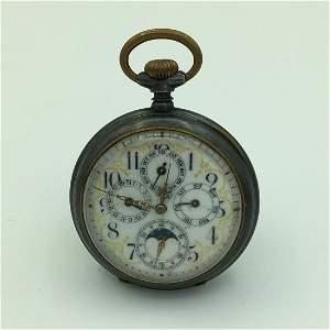 Fauvette Swiss Chronograph Perpetual Calendar Moon