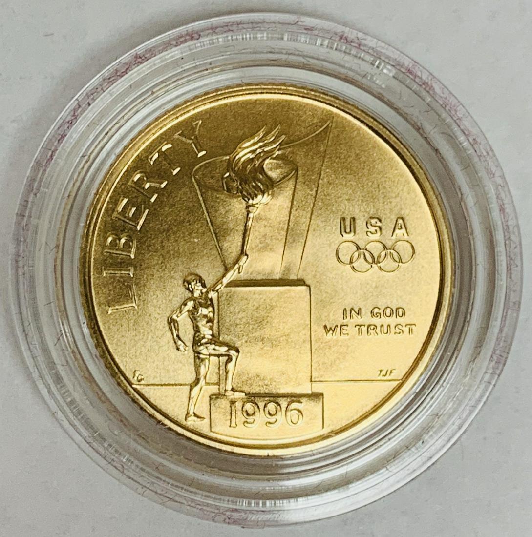 1996-W $5 Gold Cauldron XXVI Olympic Commemorative Five