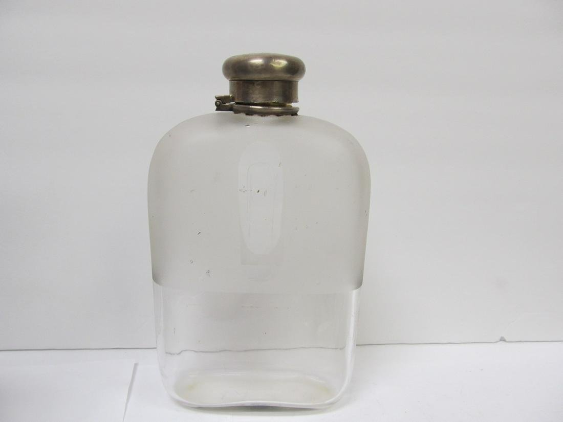 TIFFANY & CO STERLING STAMPED LID PARTIAL FROSTED GLASS