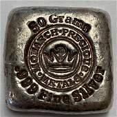 Monarch Precious Metals MPM 50 grams .999 Fine Silver