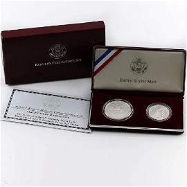 1998-S $1 & 50c Robert F. Kennedy Commem Silver