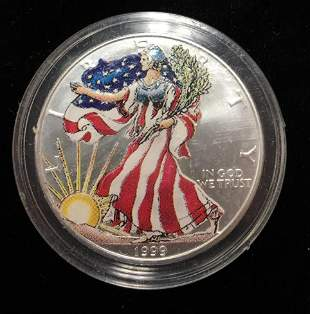1999 $1 American Silver Eagles Colorized Obverse