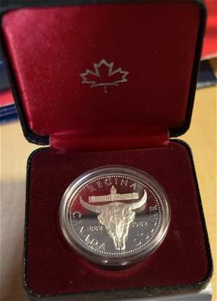 1982 Canada .500 Fine Silver Dollar Regina Centennial