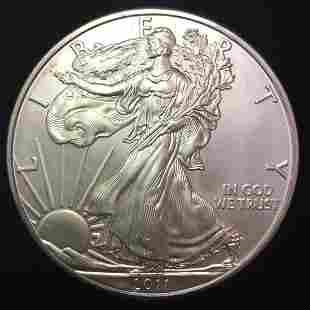 2011 $1 American Silver Eagle 1 oz Fine Silver
