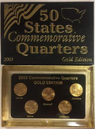2003-P Gold Edition 50 States Commemorative Quarters