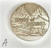 Swiss of American S.O.A. 5 oz .999 Silver Round with
