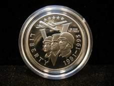 1993 P 1991-1995 World War II 50th Anniversary BU Coin