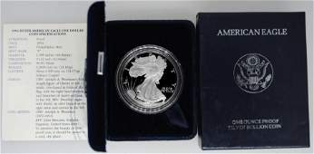 1994P 1 Proof American Silver Eagle 1 oz ASE in OGP