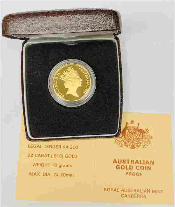 1986 Australia Koala $200 Gold Proof Royal Australian
