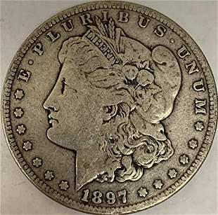 1897 S Morgan Silver Dollar Average Circulated $1 G-VG