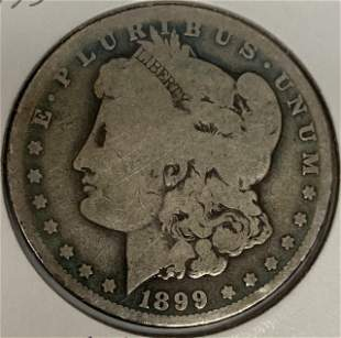 1899 O Morgan Silver Dollar Average Circulated $1 G-VG