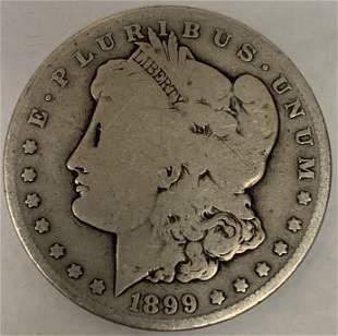 1899 S Morgan Silver Dollar Average Circulated $1 G-VG