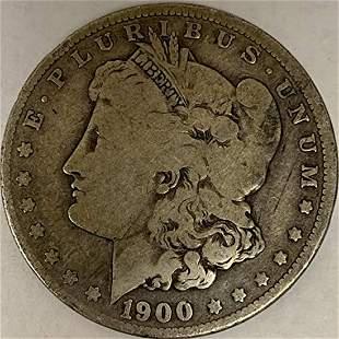 1900 O Morgan Silver Dollar Average Circulated $1 G-VG