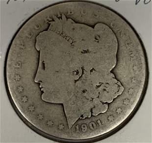1901 O Morgan Silver Dollar Average Circulated $1 G-VG