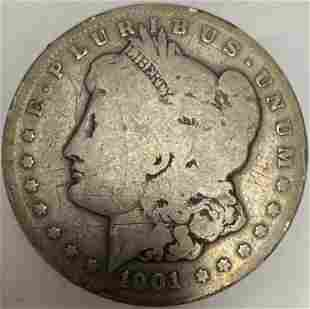 1901 S Morgan Silver Dollar Average Circulated $1 G-VG