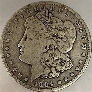 1904 P Morgan Silver Dollar Average Circulated $1 G-VG