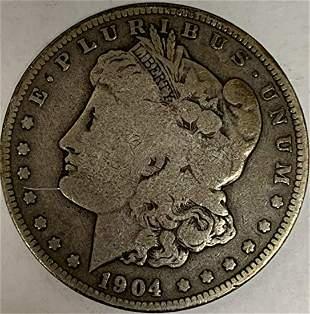 1904 O Morgan Silver Dollar Average Circulated $1 G-VG