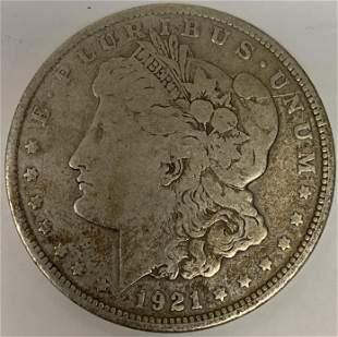 1921 P Morgan Silver Dollar $1 Circulated