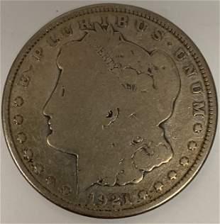 1921 D Morgan Silver Dollar $1 Circulated