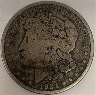 1921 S Morgan Silver Dollar $1 Circulated