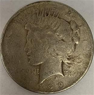 1923 P Peace Silver Dollar Average Circulated $1 G-VG
