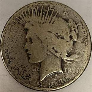 1923 S Peace Silver Dollar Average Circulated $1 G-VG
