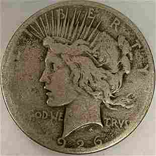 1926 S Peace Silver Dollar Average Circulated $1 G-VG
