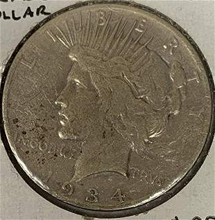 1934 S Peace Silver Dollar Average Circulated $1 G-VG