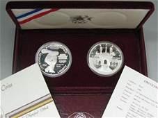 1983  1984 Los Angeles XXIII Olympic Commemorative Set