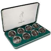 1996 P Atlanta Olympics Eight Coin Silver Set in OGP