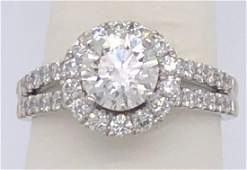 14 k Ladies White Gold 1.50 ct Natual Diamond