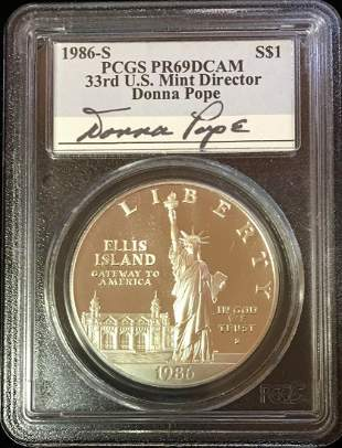 1986-S $1 Statue of Liberty Comm Silver Dollar PCGS